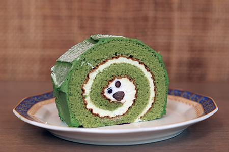 ロールケーキ(抹茶あずき)