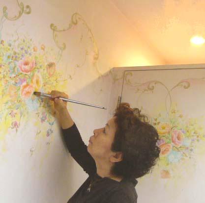 加藤千賀子 室内装飾画家